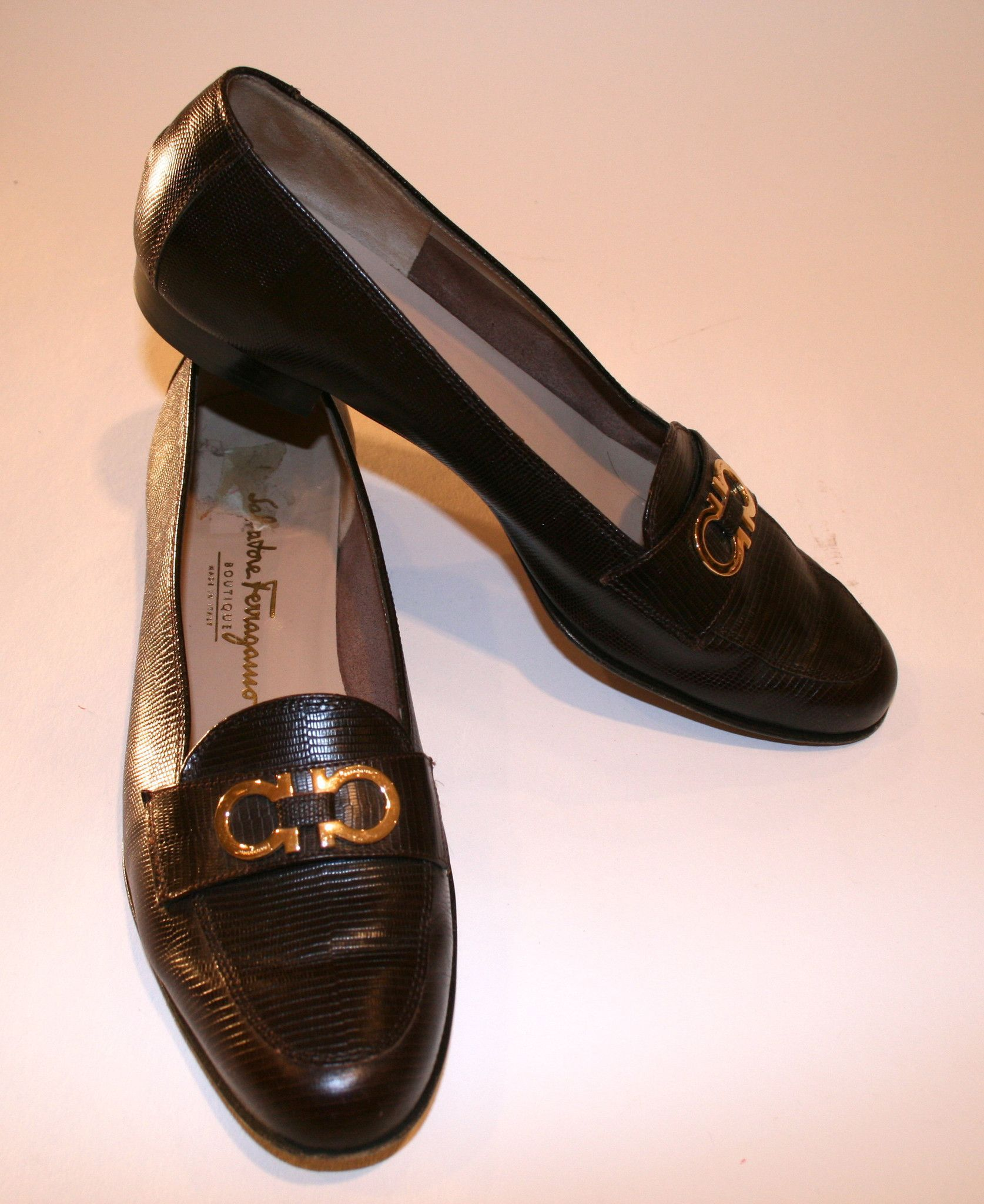78fbb141ea7 1980 s Salvatore Ferragamo Chocolate Leather snakeskin embossed loafers.  Made by Salvatore Ferragamo a Hollywood legacy! These classic loafers are  amazing ...