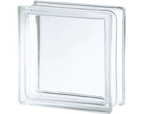 Glasbaustein Vollsicht Weiss 19x19x8cm Glasbausteine Glas Hornbach