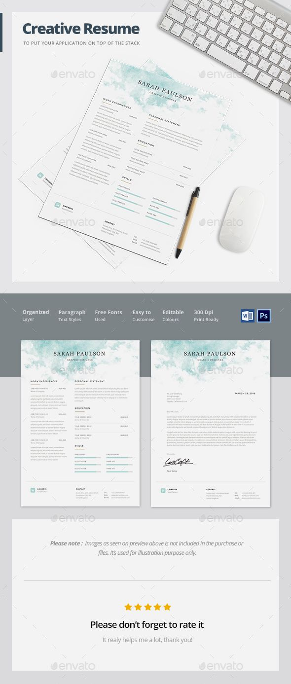 Resume Template | Moderno, Colores y Microsoft