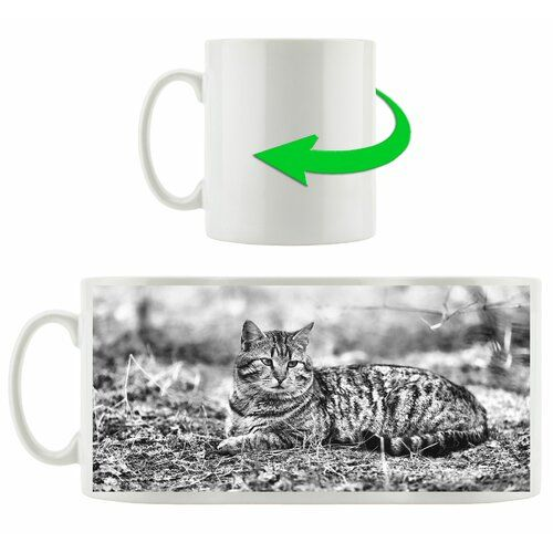 Resting Cat in Forest Coffee Mug East Urban Home