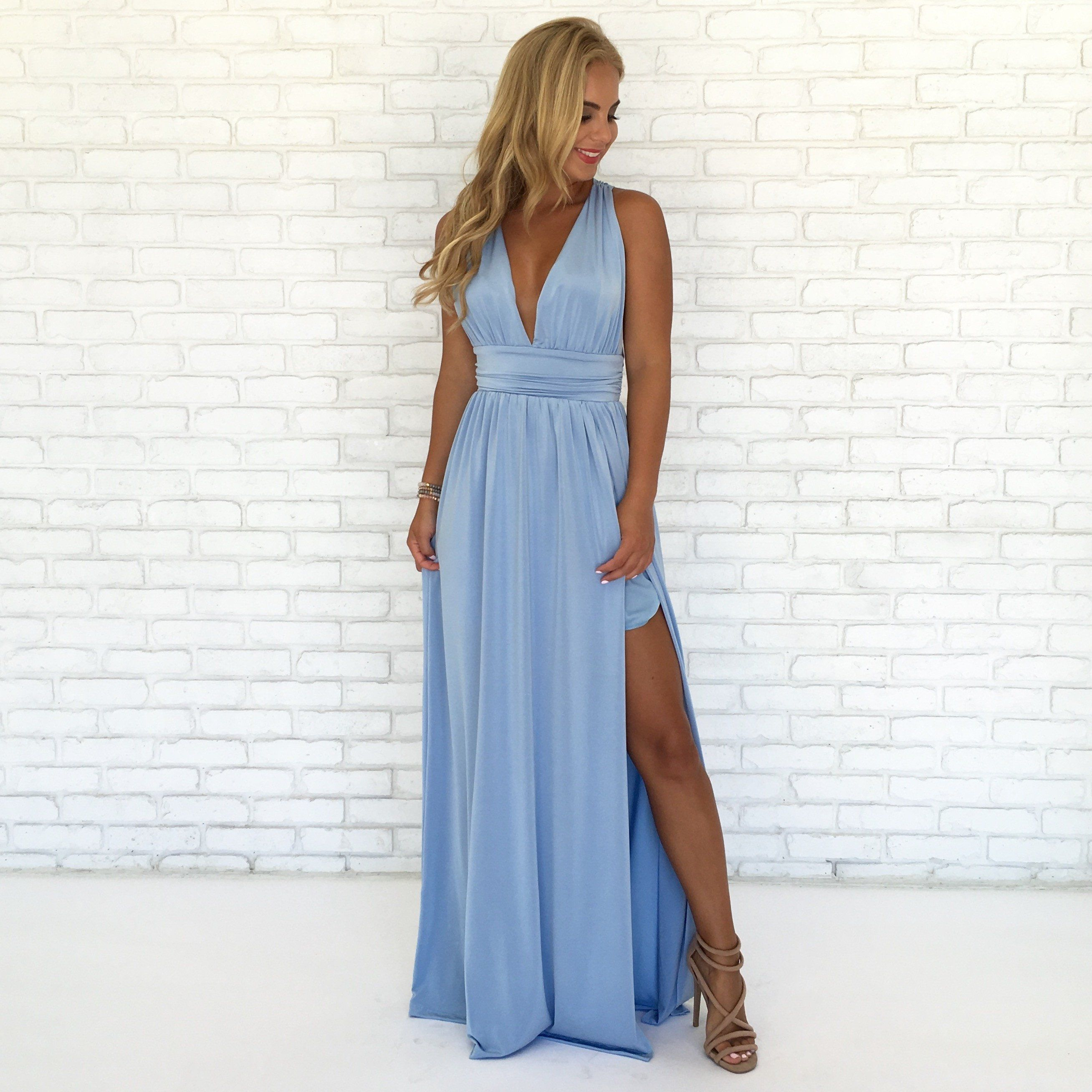 Always Your Girl Maxi Dress In Powder Blue | Girls maxi dresses ...