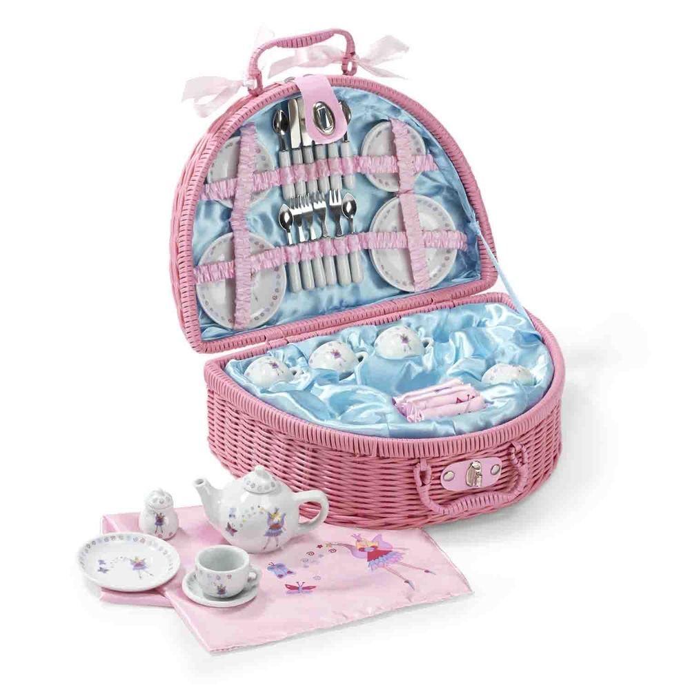 Fee Picknickkorb Teeservice Kaffeeservice Spielküche für Kinder ...