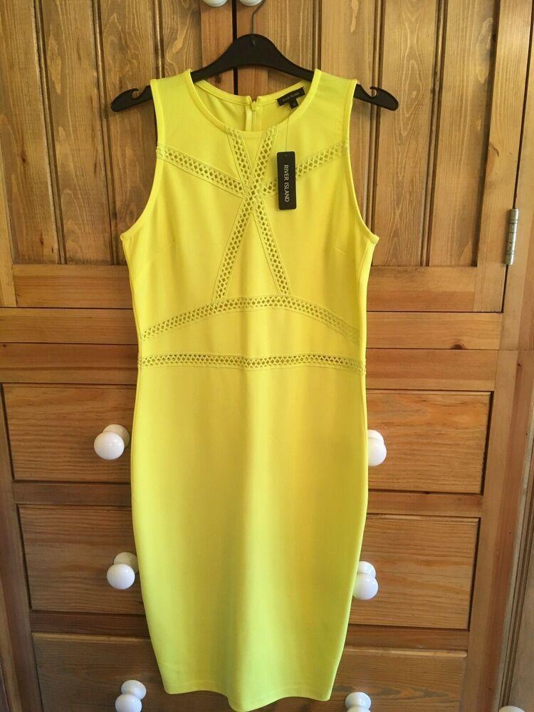 850b4c9c0fcb83 RIVER ISLAND YELLOW DRESS.... SIZE 14.(NEW) #fashion #clothing ...