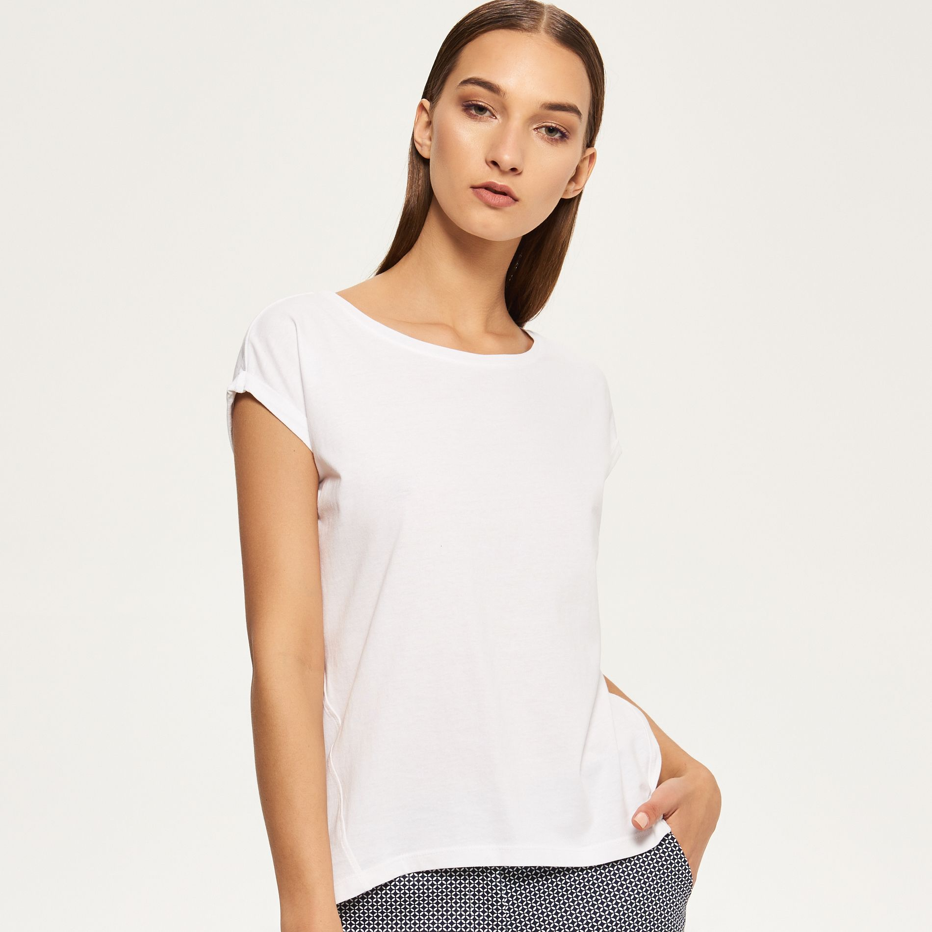Hladké tričko, RESERVED, QG260-00X