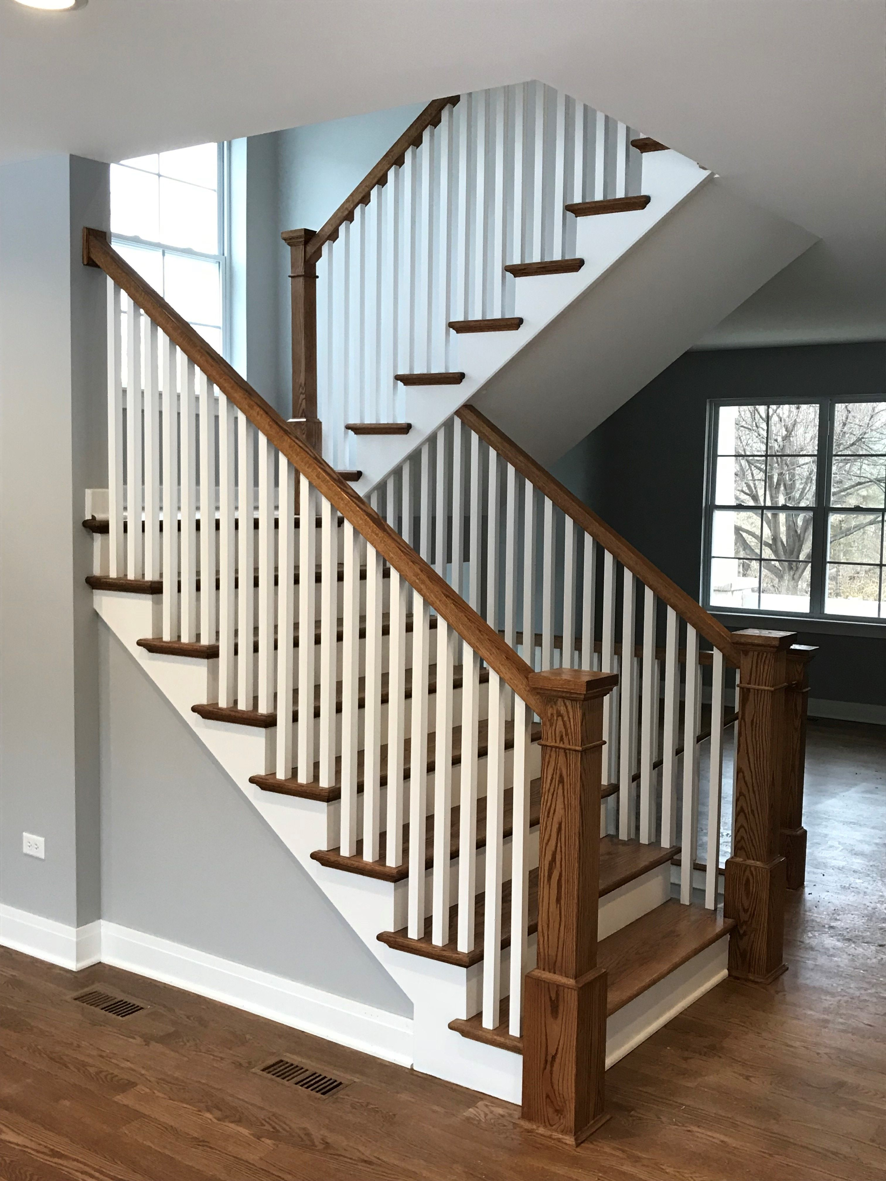 Best Oak Stairs With White Balusters Oak Stairs Stair Banister 640 x 480