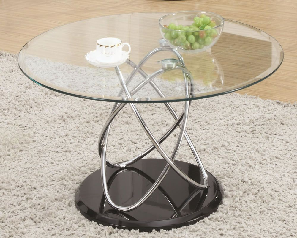 Metal And Glass Swirl Coffee Table [ 800 x 1000 Pixel ]