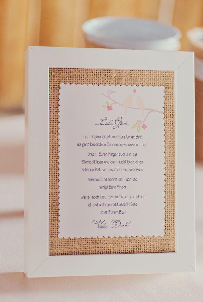 anleitung hochzeit fingerabdruck fingerprint baum scheune wedding barn jute burlap vintage. Black Bedroom Furniture Sets. Home Design Ideas