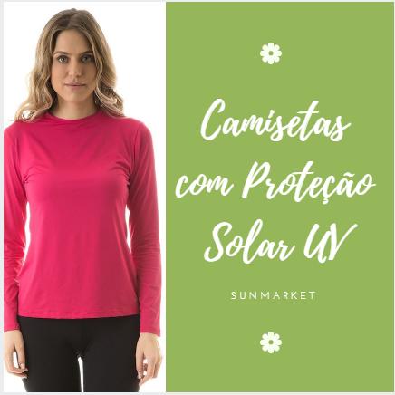 Camiseta UV Pro Manga Longa Feminina com Proteção Solar UV! Feita em tecido  de poliamida 69662f6eccb