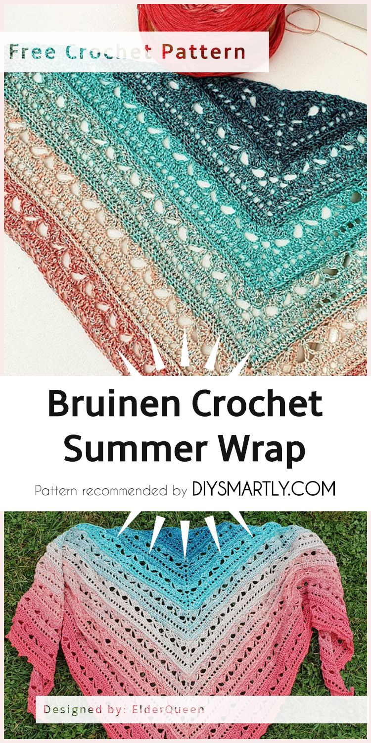 Bruinen Crochet Summer Wrap Free Pattern Summeroutfit Fashion