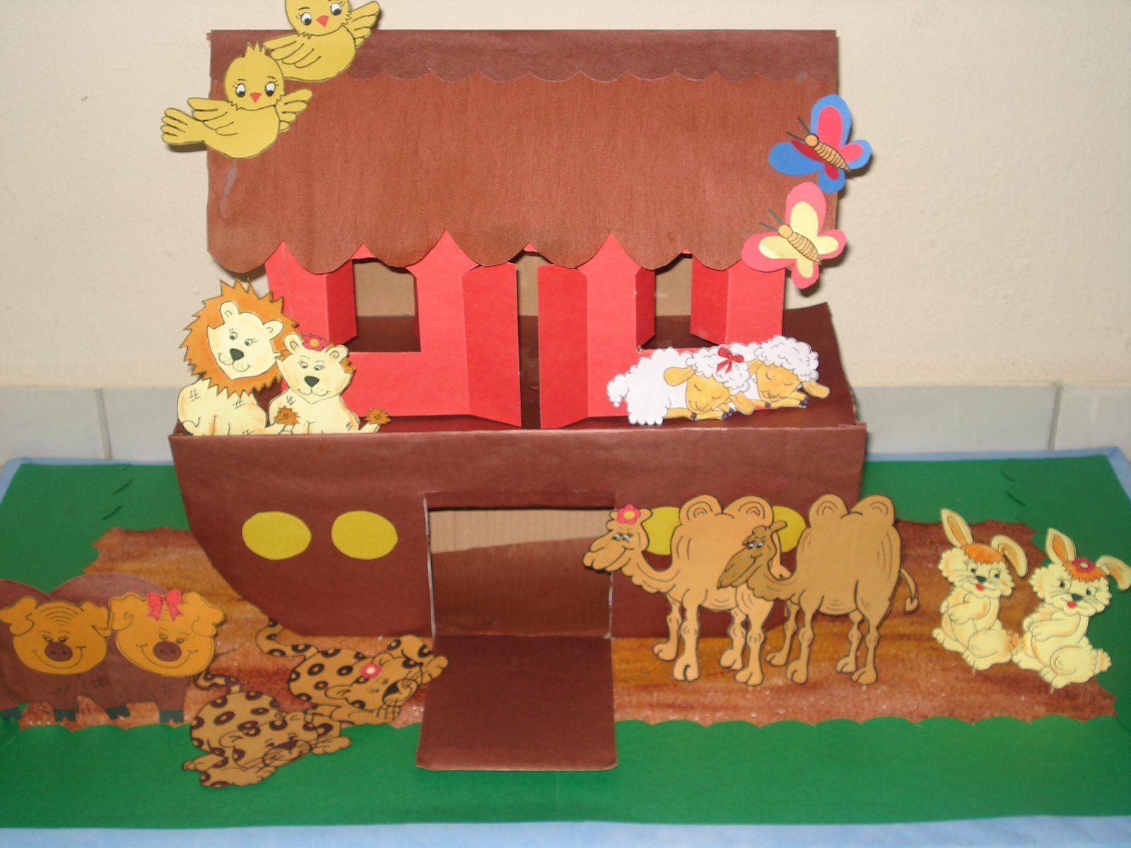 Recursos Visuais para a história da Arca de Noé(Maquete)