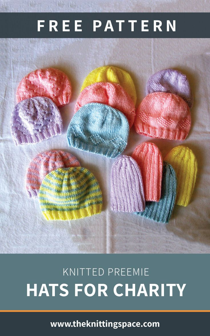 Knitted Preemie Hats For Charity [FREE Knitting Pattern]