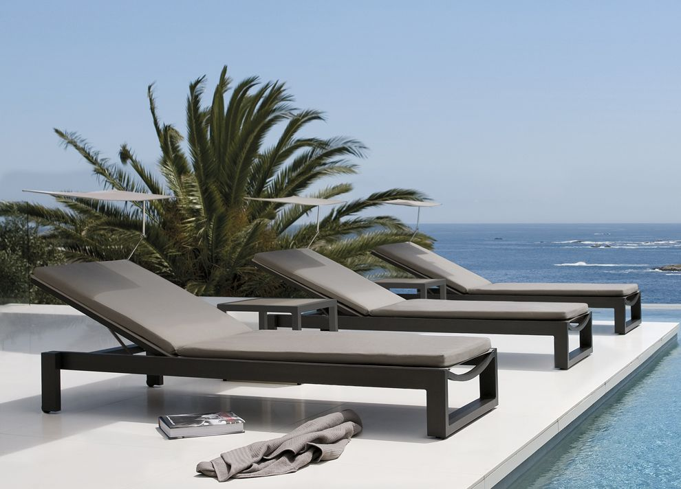 the fuse sun lounger by manutti is part of our range of modern garden furniture from belgium which is at the top end of the market made with very high - Garden Furniture Loungers