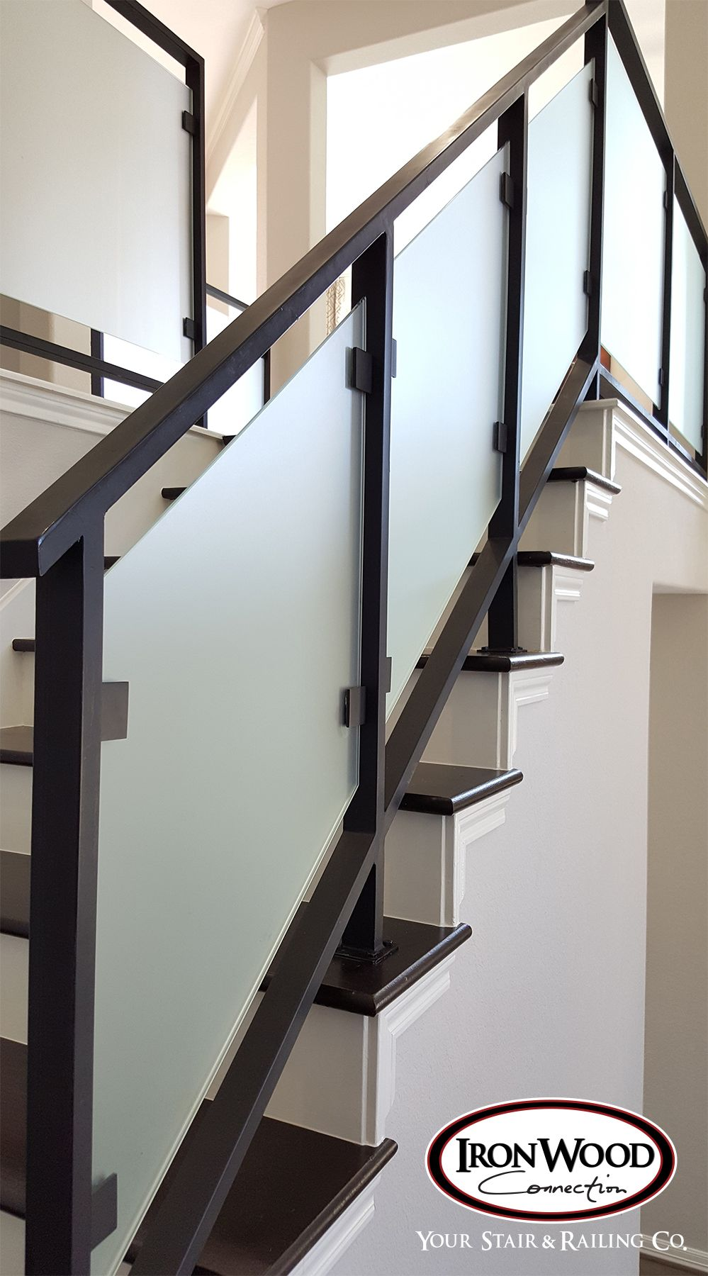Glass And Wrought Iron Systems Are Designed Through Our Custom | Stair Railing Glass Panel | Tempered Glass | Wood | Stainless Steel Railing Systems | Base Shoe | Aluminum