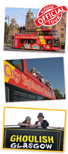 City Sightseeing Glasgow - tour Glasgow in style with our open top bus tours of the city