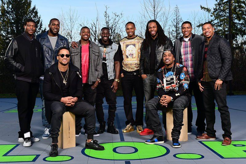 Seahawks' Legion of Boom  Standing, from left: Byron Maxwell, Kam Chancellor, Steven Terrell, Jeremy Lane, Tharold Simon, Richard Sherman, DeShawn Shead, Marcus Burley. Seated: Earl Thomas, Jeron Johnson
