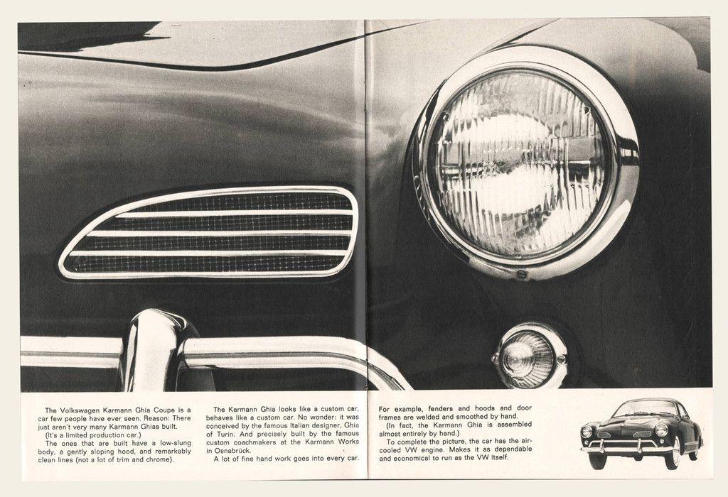 PRINT VINTAGE VOLKSWAGON 1959 KARMANN GHIA CONVERTIBLE ADVERT  A3 POSTER RE