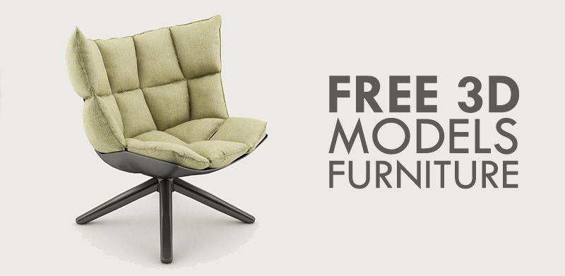 10 Free 3D Models of Furniture at 3DExport | 3d Models | Pinterest