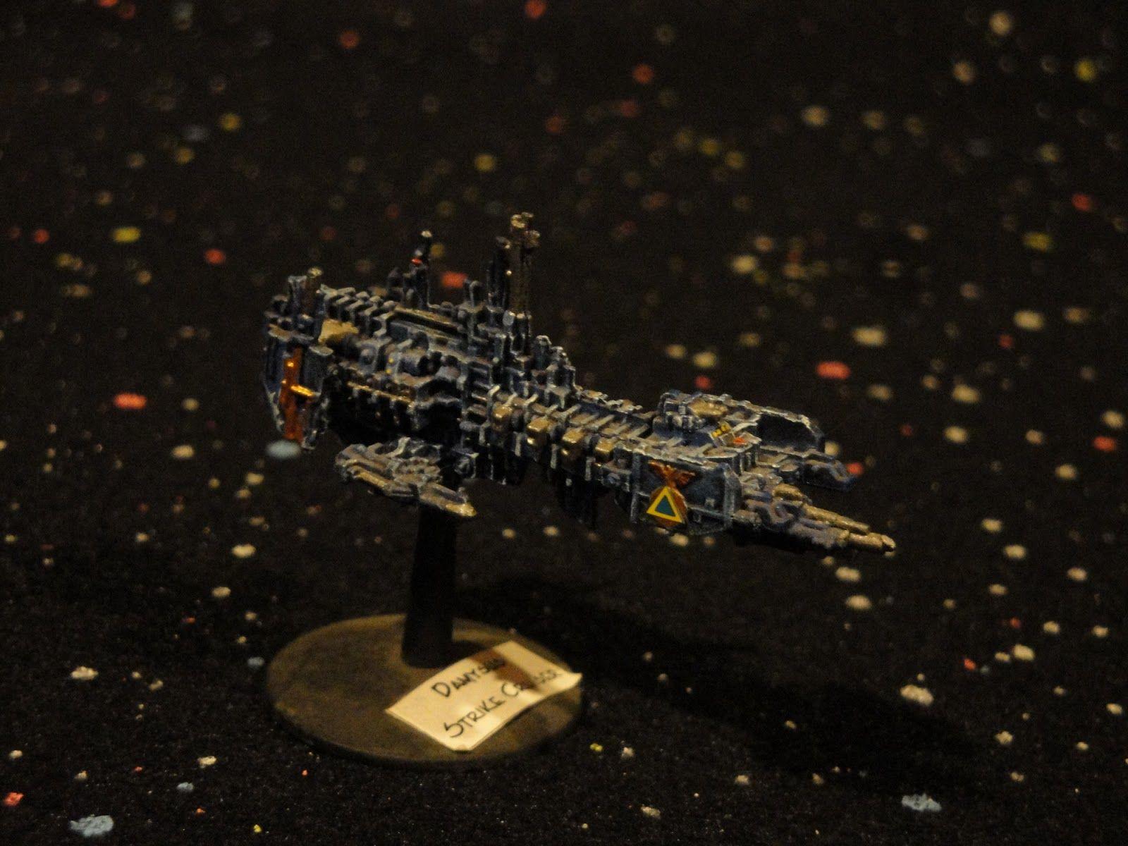 Space Marine Strike Cruiser Damysus Conqueror Battlefleet