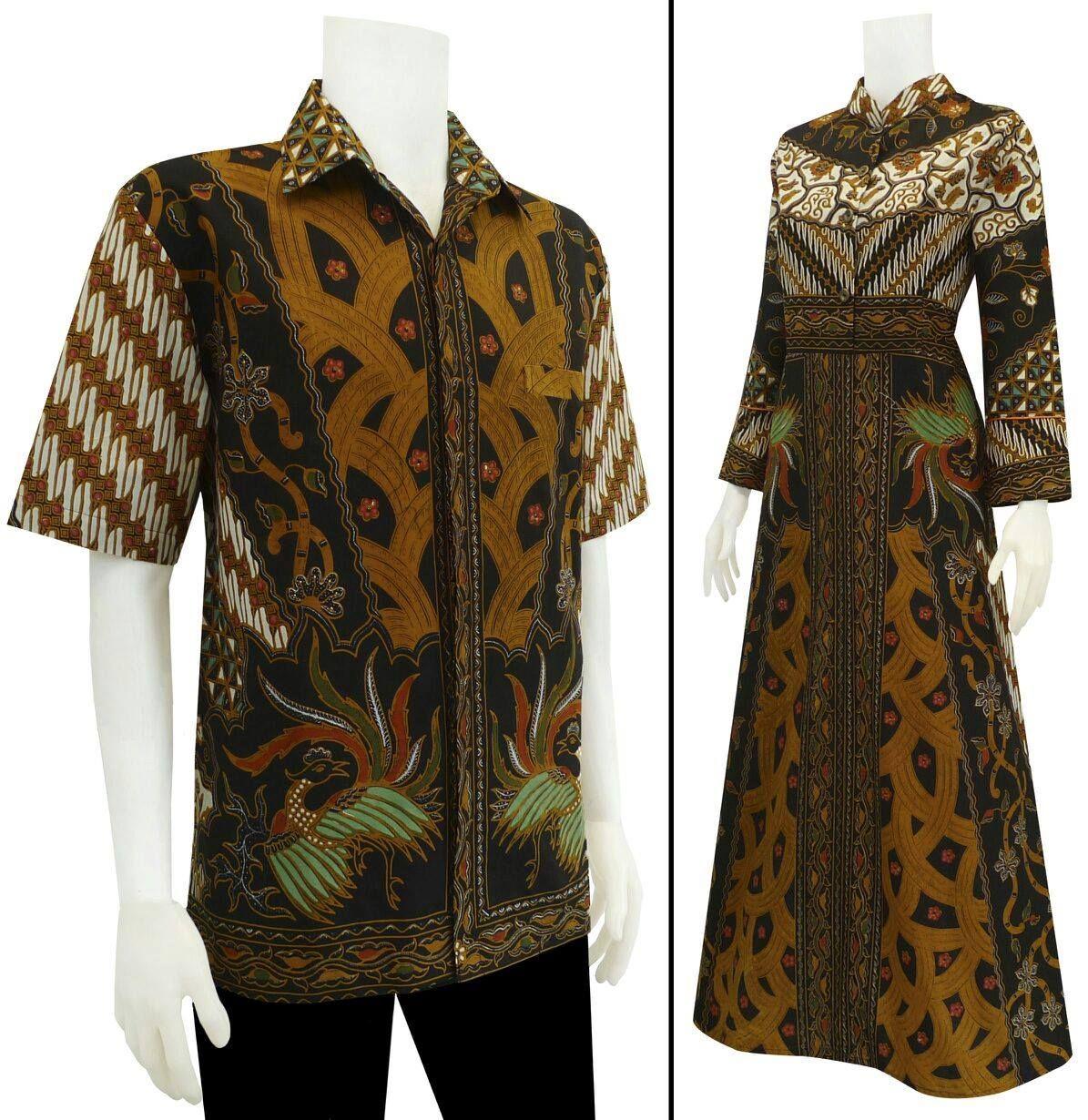 Baju Batik Gamis Sarimbit Motif Sinaran Batik Kebaya Dresses