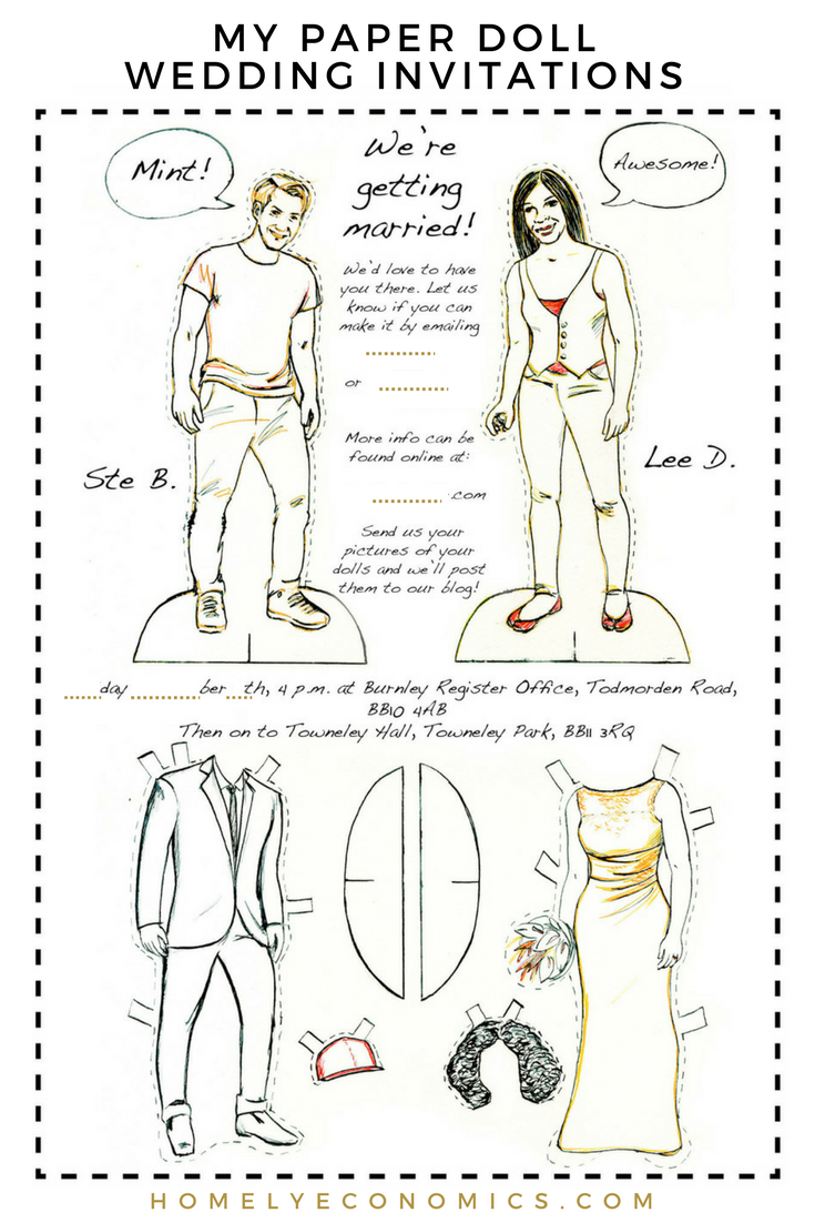 Paper Doll Wedding Invitations | All About Money Group Board