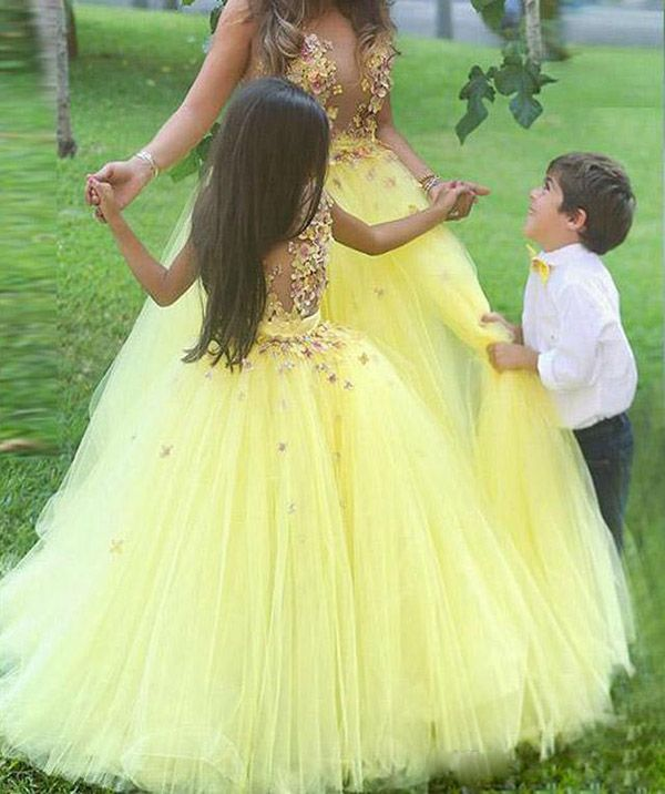 Newest First Communion Dresses For Wedding Party,Stunning Yellow ...