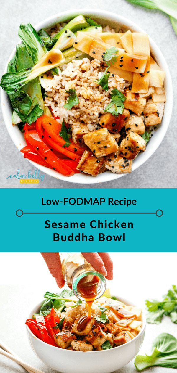 Photo of Sesam Chicken Buddha Bowl (Low FODMAP Rezept) IBS Health Coaching und FODMAP Diät Rezepte | Ruhige Bauchküche