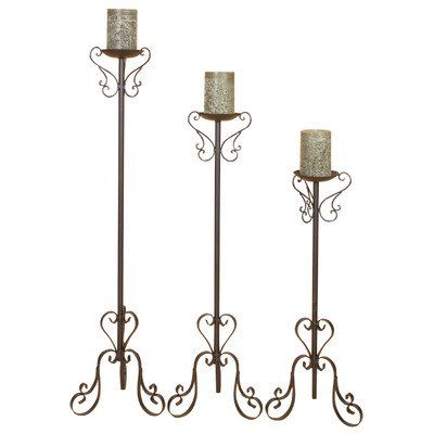 Candle Holder   - Pin it :-) Follow us, CLICK IMAGE TWICE for Pricing and Info . SEE A LARGER SELECTION of candle holder at http://azgiftideas.com/product-category/candle-holder/  - gift ideas, house warming gift ideas, home decor -  Tall Candle Holder - Set of 3
