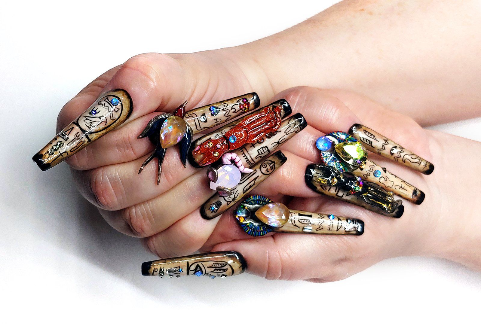 Photo of NTNA S. 7 Pre-Challenge 2: Egyptian Bastet Nail Art (Becca)