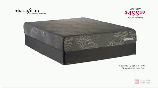 ▷ Value City Furniture Hurry in: Miraclefoam Mattresses Ad