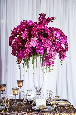 Radiant orchid purple wedding centrepiece brides of adelaide radiant orchid purple wedding centrepiece brides of adelaide magazine junglespirit Image collections