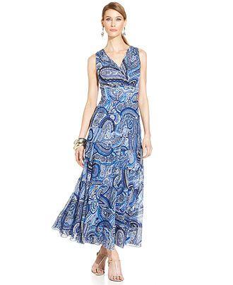 25cd6f450 Evan Picone Sleeveless Paisley-Print Maxi Dress - Sale   Clearance - Women  - Macy s