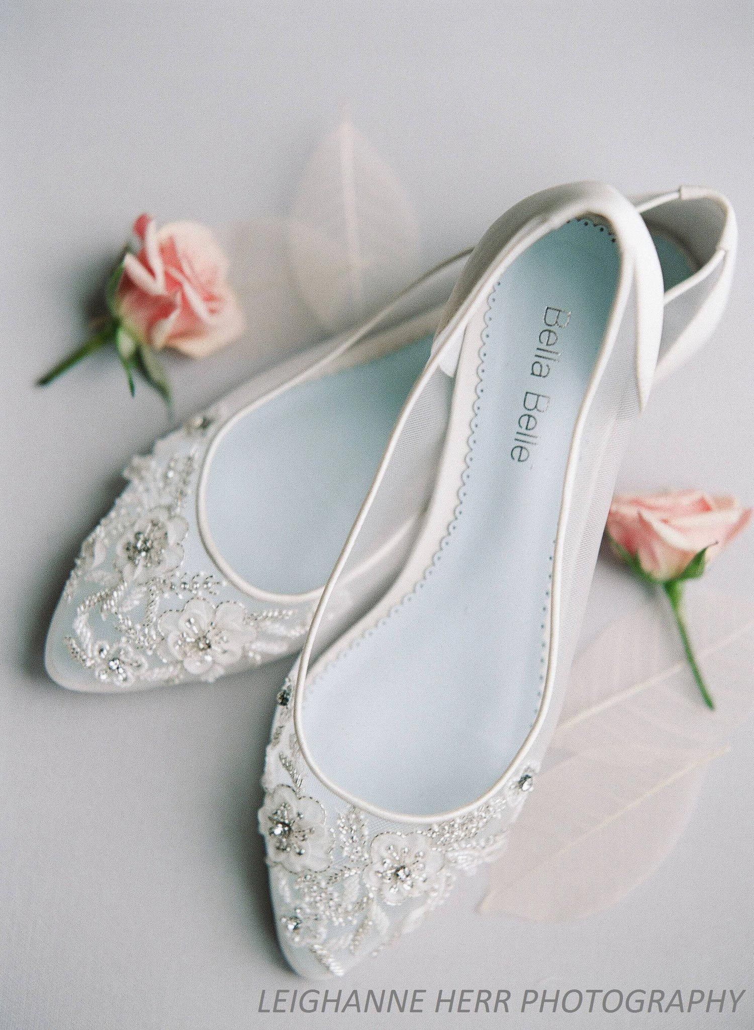 Adora Eternal Bridal Collection Romantic Mesh Flats With
