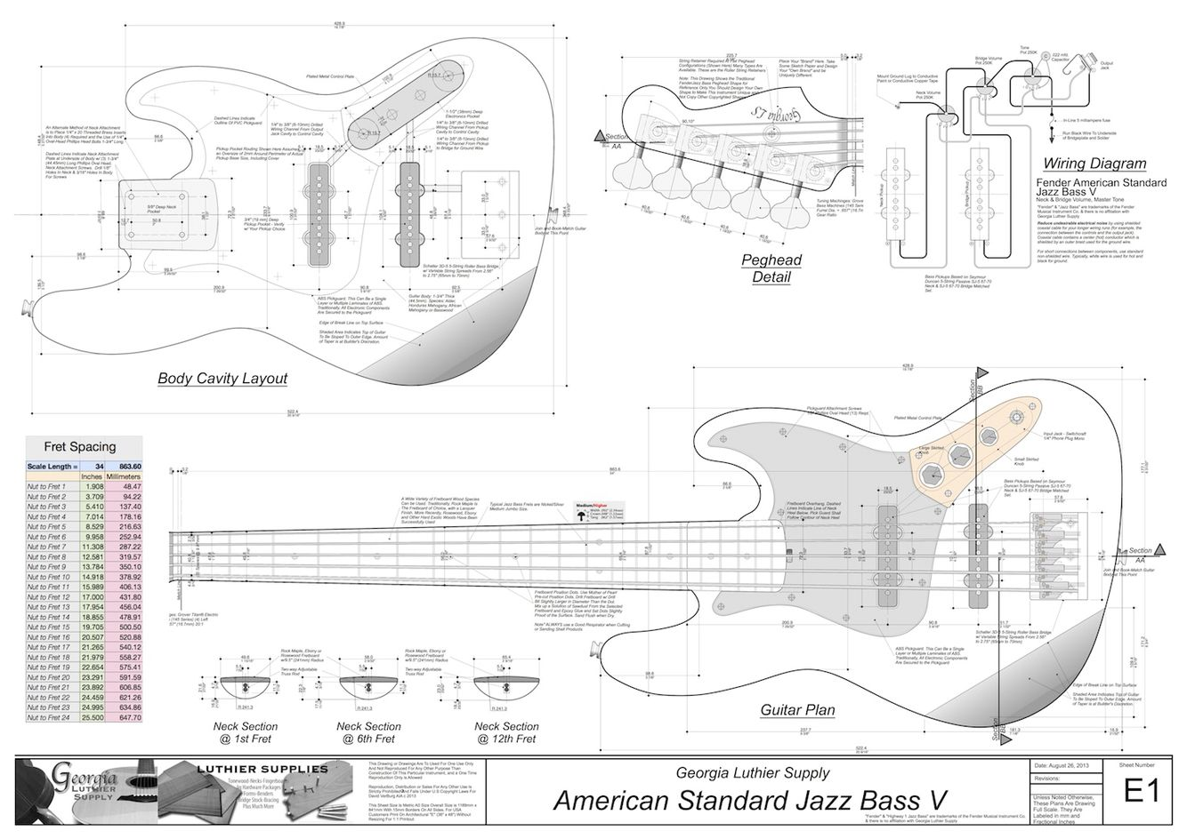 J Bass Blueprints