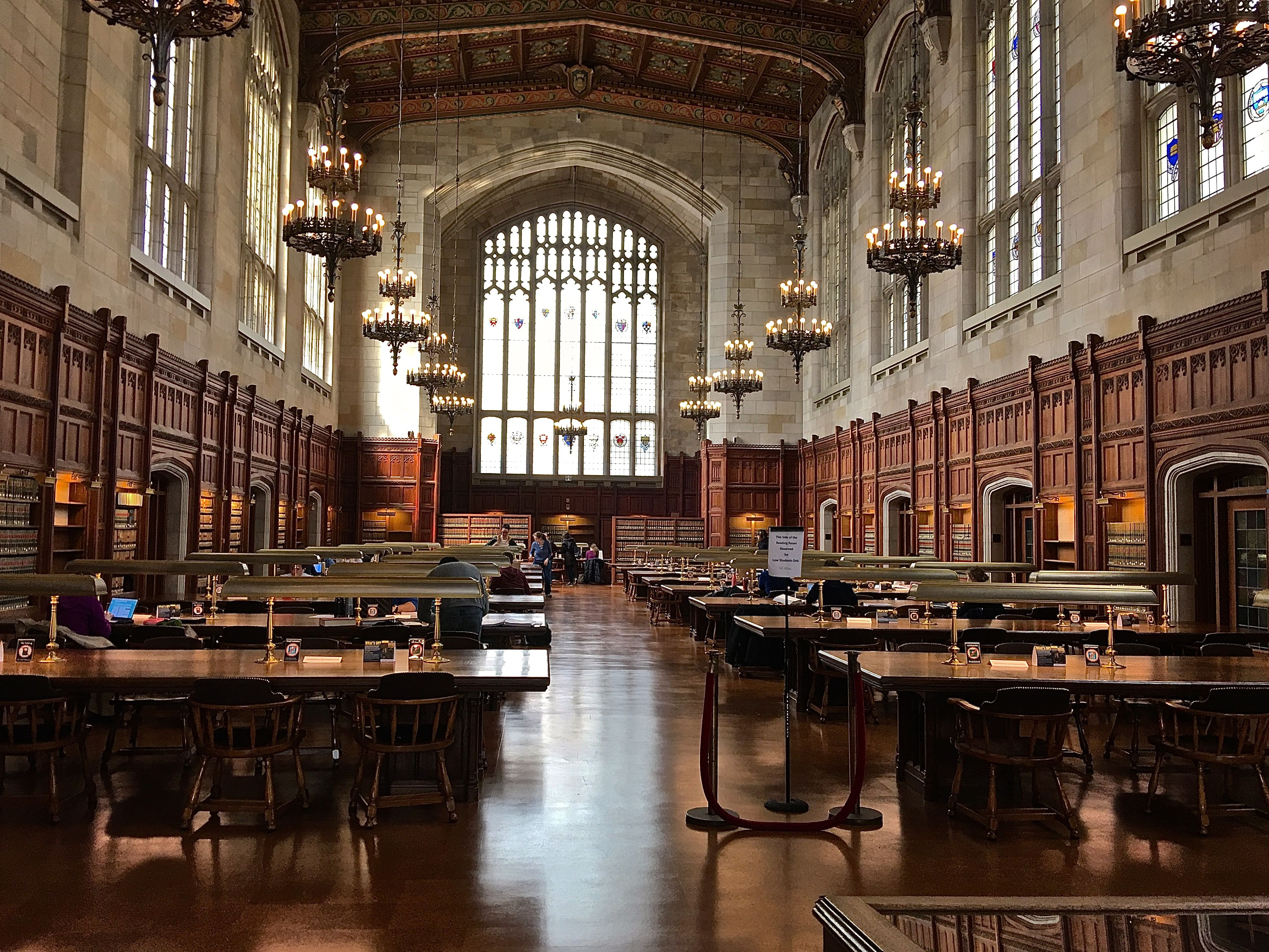 This Is The University Of Michigan Law Library S Reading Room Law School Library University School Library