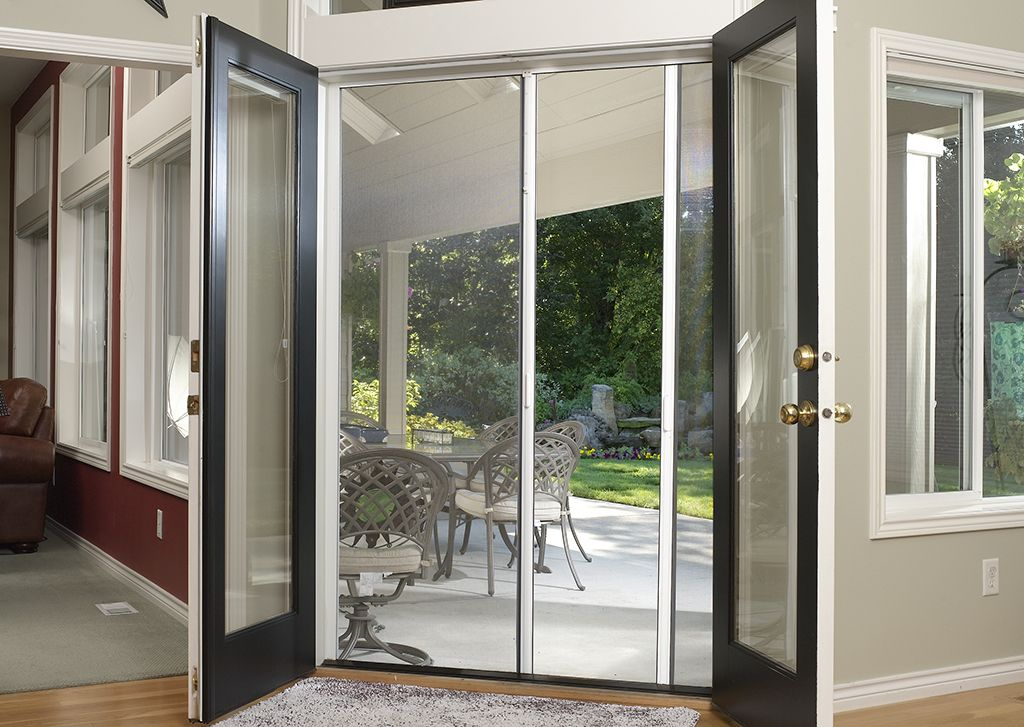 genius milano 200 double panel door retractable screens
