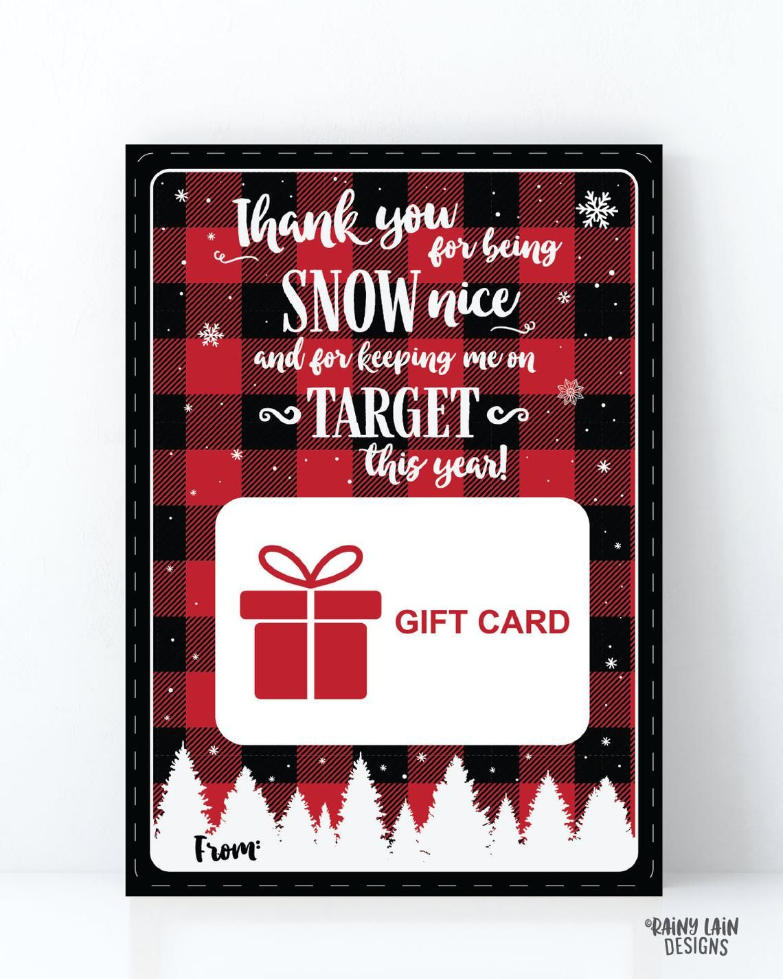 Christmas Gift Card Holder, Keeping me on Target Gift Card