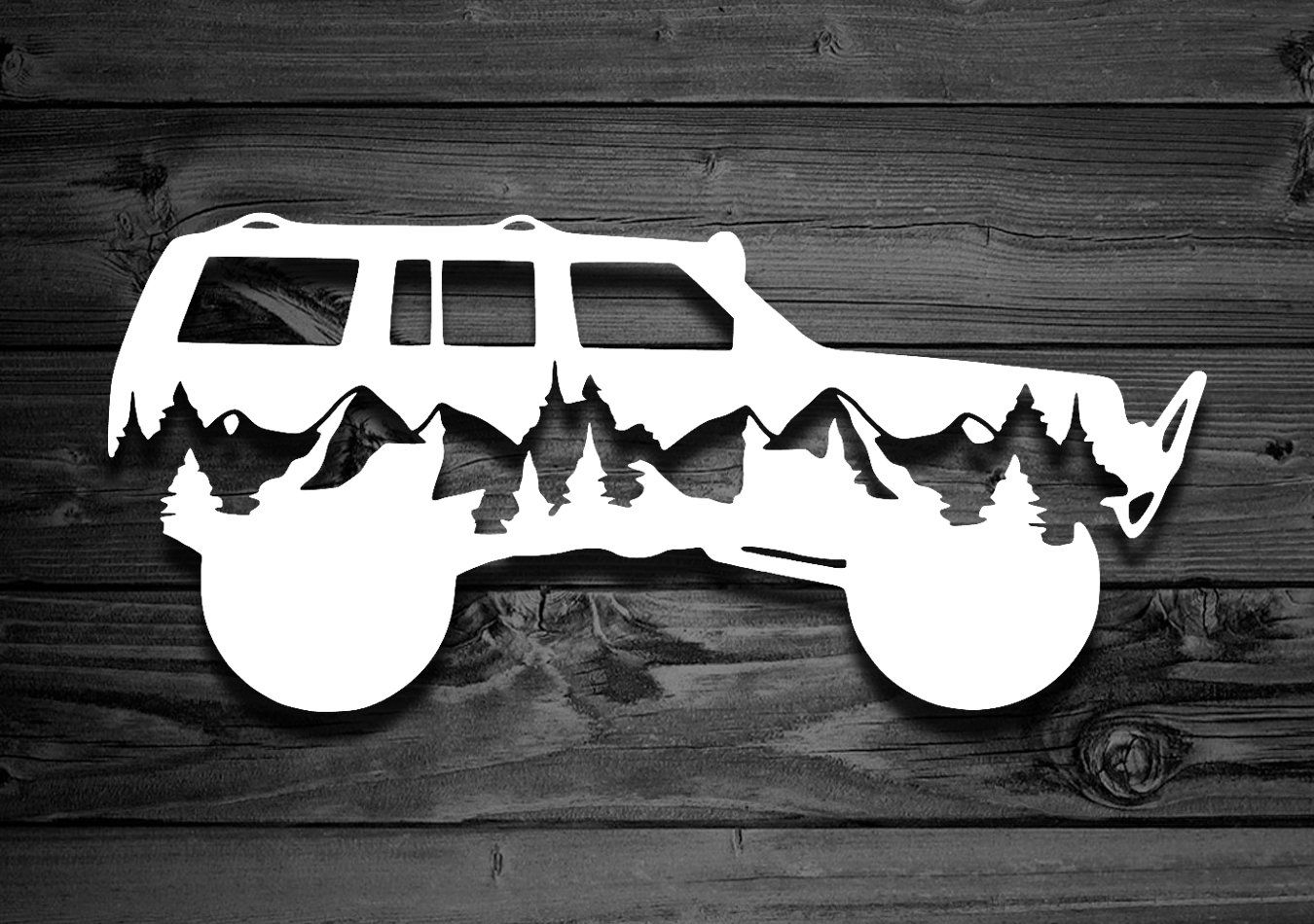 Mountain Vinyl Decal For Cherokees Explorer Decal