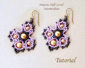 Orecchini perline tutorial beadweaving modello di PeyoteBeadArt