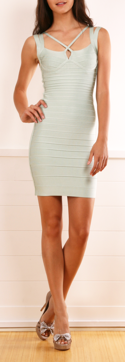 HERVE LEGER DRESS - Why can't things like this ever be affordable? Or fit normal size people?