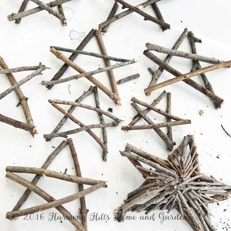 Fun and Easy Twig Stars | Harmony Hills Home and Garden