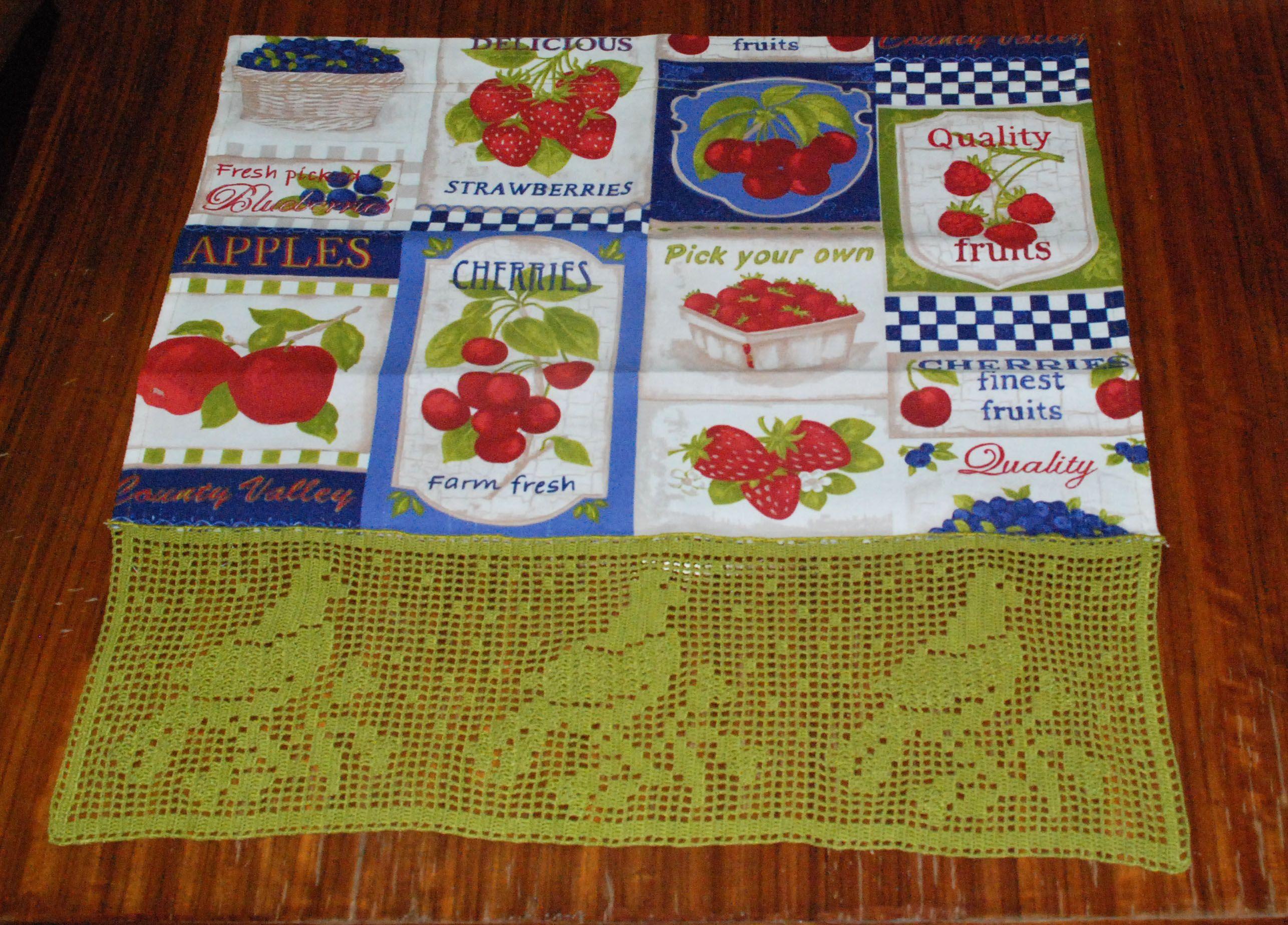 Cortina De Cozinha Artesanato Artesaneia Decora O Crochet