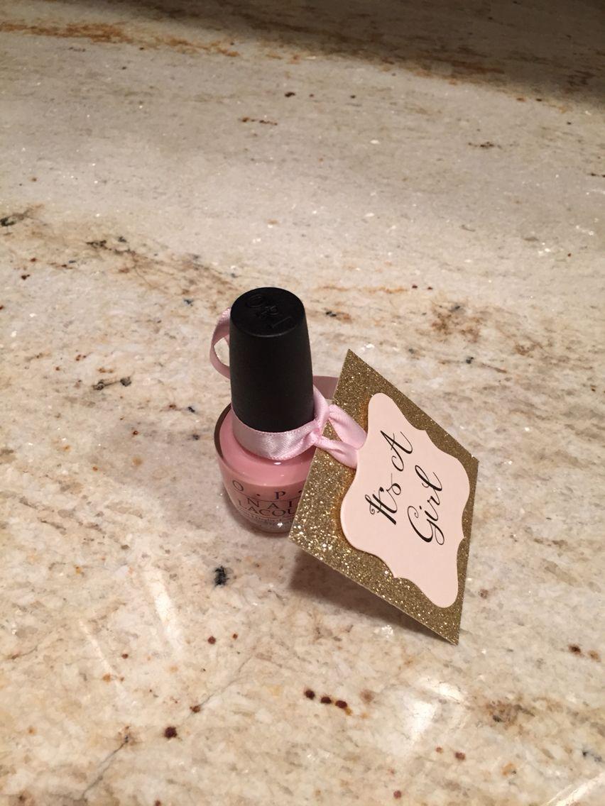"Opi ""it's a girl"" nail polish favor (With images) Nail"