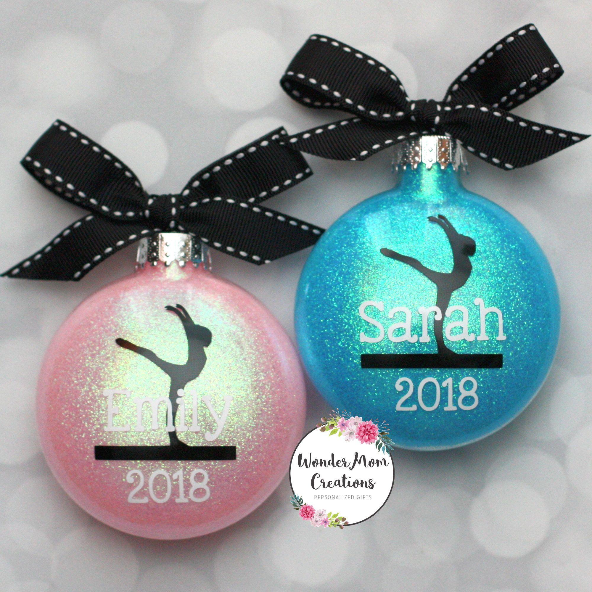 Gymnast Personalized Ornament; Gymnast Coach Ornament ...
