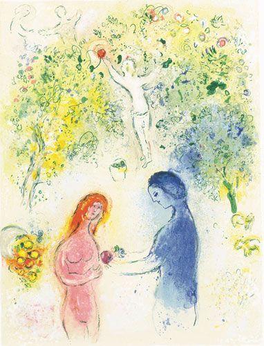 History Of Art Marc Chagall Longus Daphnis And Chloedaphnis