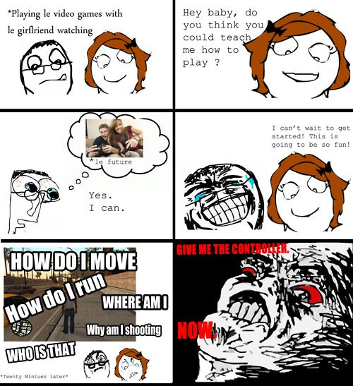 Funny Memes Playing Video Games Me As A Girlfriend Funny Relationship Memes Fun Comics
