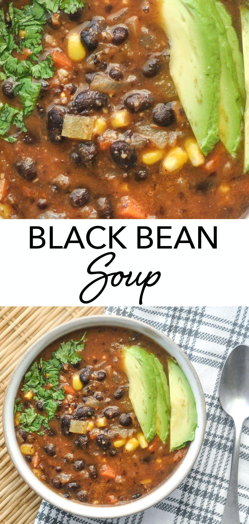 Black Bean Soup | Veggiecurean - Celebrating Plants