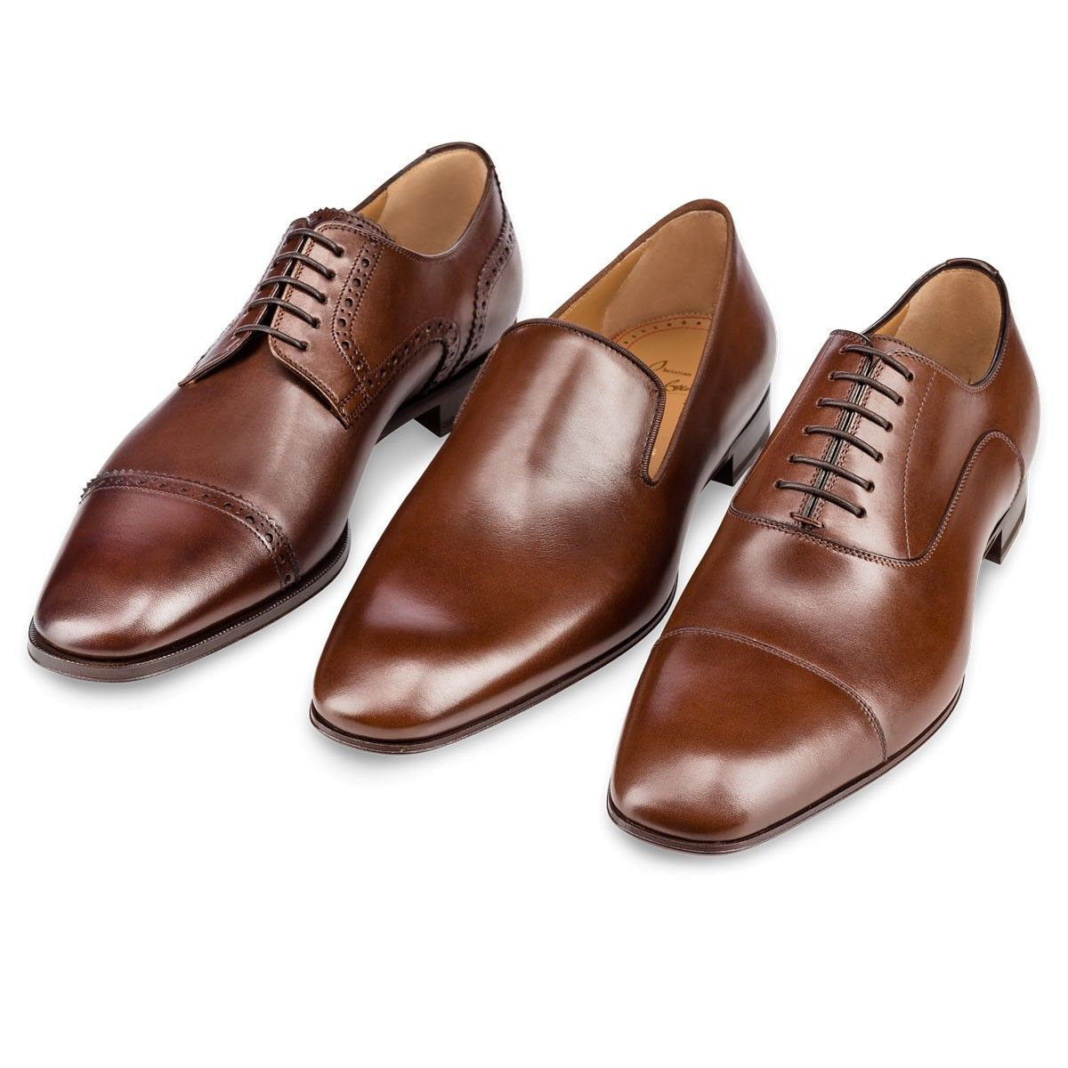 6b54fff7f45 Dandelion Flat Havane Leather - Men Shoes - Christian Louboutin ...