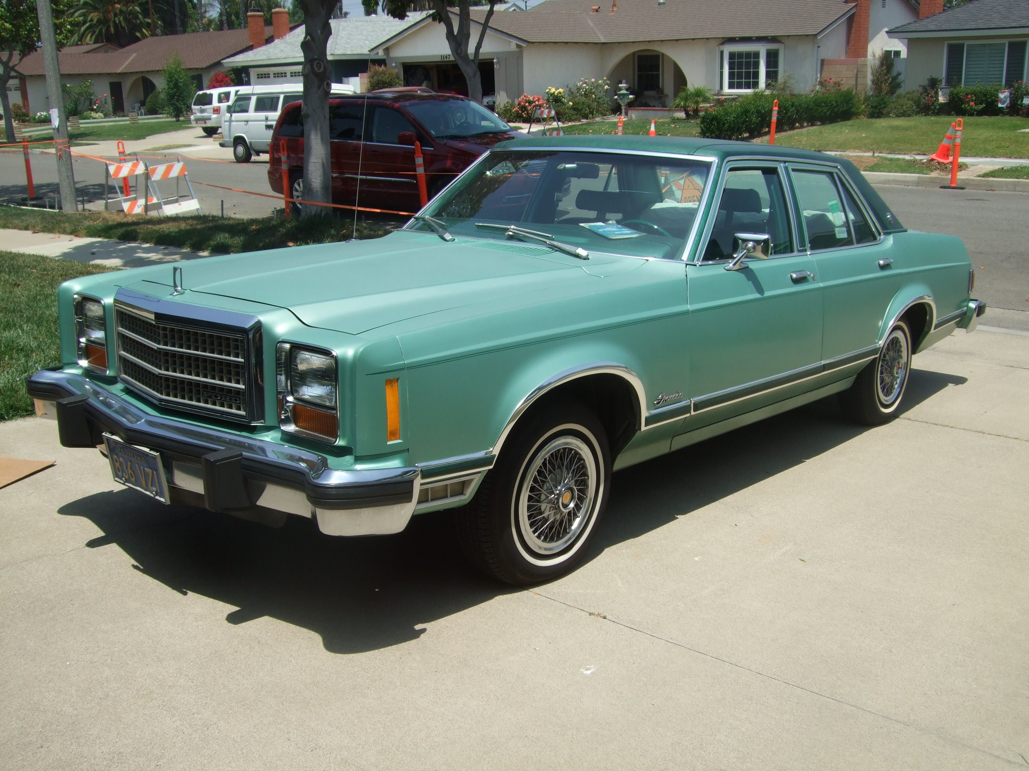 1978 ford granada four door sedan my first car in this shade of green