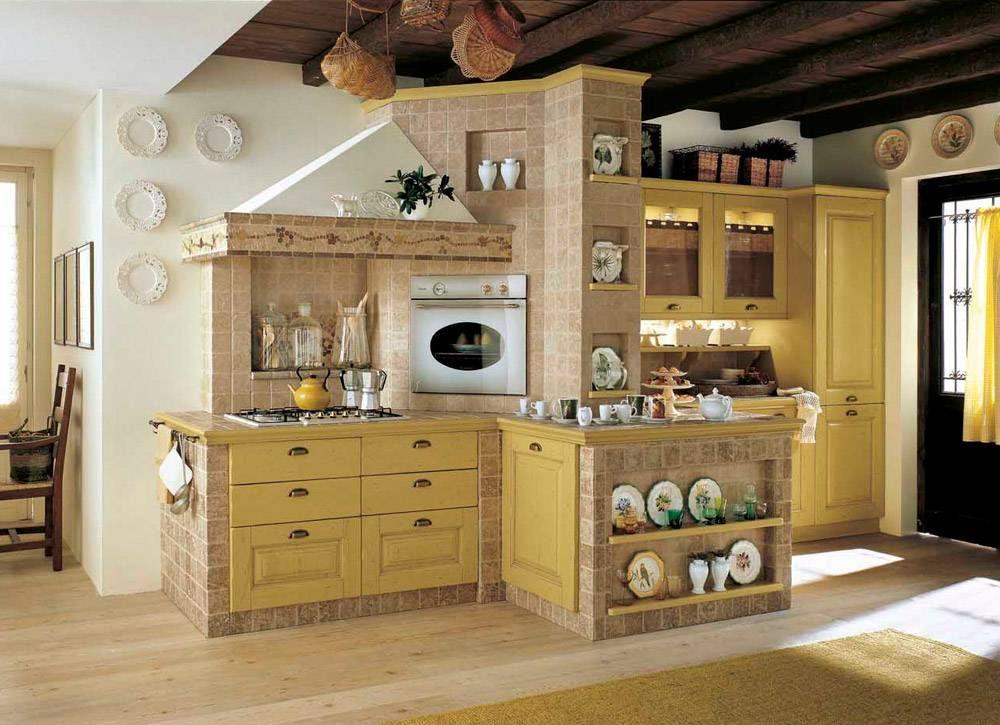 Cucine in muratura u2022 70 idee per progettare una cucina costruita su