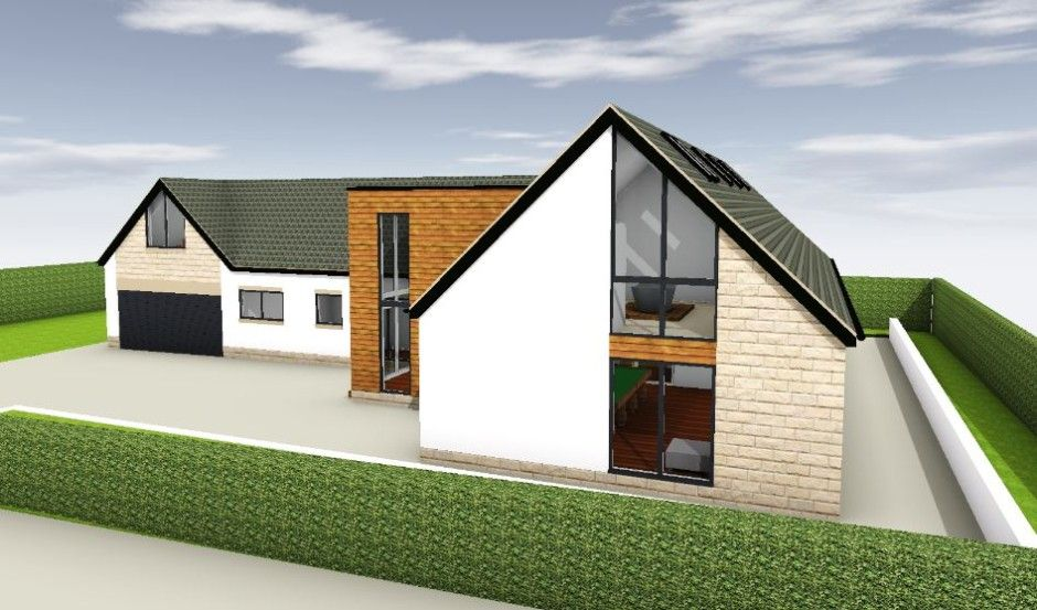 bungalow extension ideas reverse front view - Bungalow Conversion Ideas